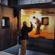 Brent and Brian Load the New Kiln with Barley